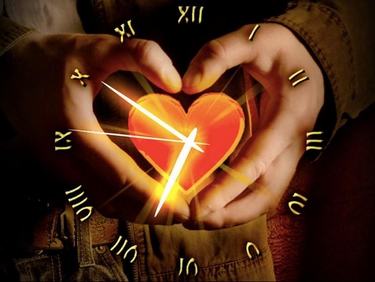 Использовать, открытки про любовь и время